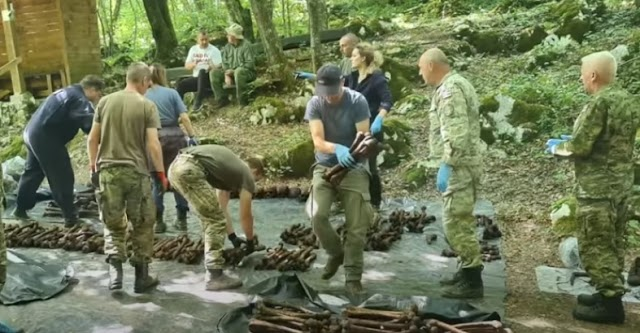 Több száz holttestet exhumáltak egy második világháborús horvátországi tömegsírból