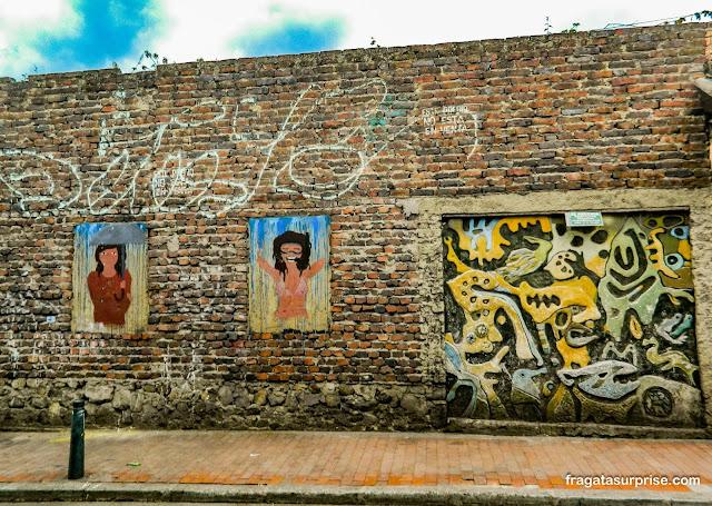 Grafites no bairro de La Candelaria, Bogotá