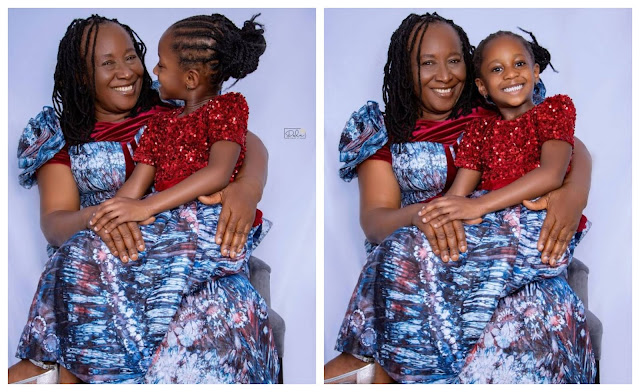 Lovely photos as Actress, Patience Ozokwo and her Grand-daughter celebrates their birthday on the same day