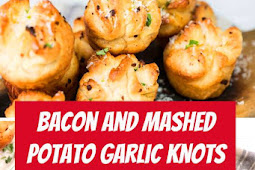 Bacon and Mashed Potato Garlic Knots #easysnack #snacks #mashedpotatoes
