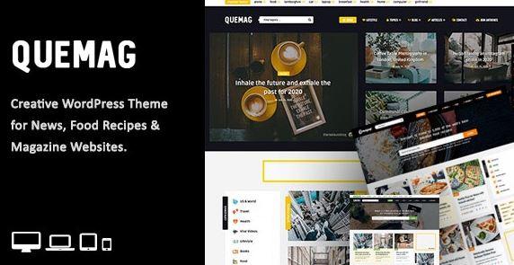 Quemag - Tema criativo do WordPress para blogueiros