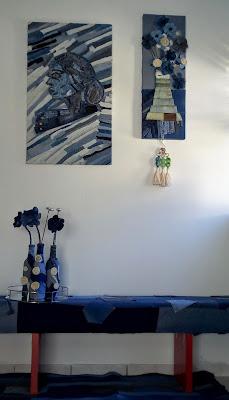 Denim Artworks display by Miabo Enyadike