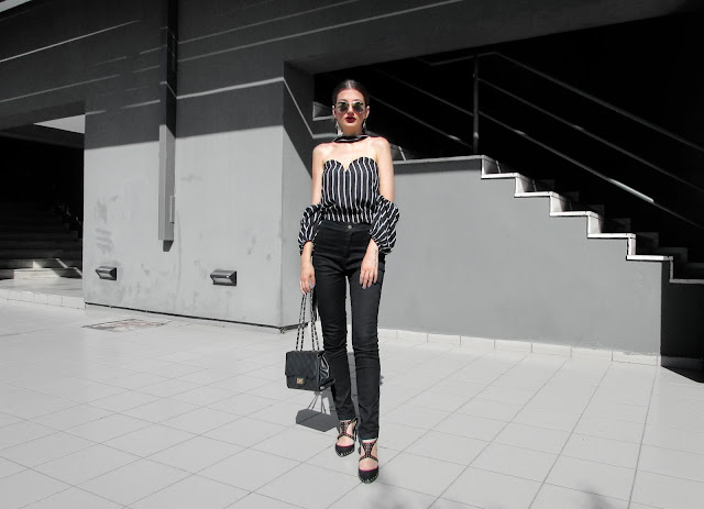total black summer outfit