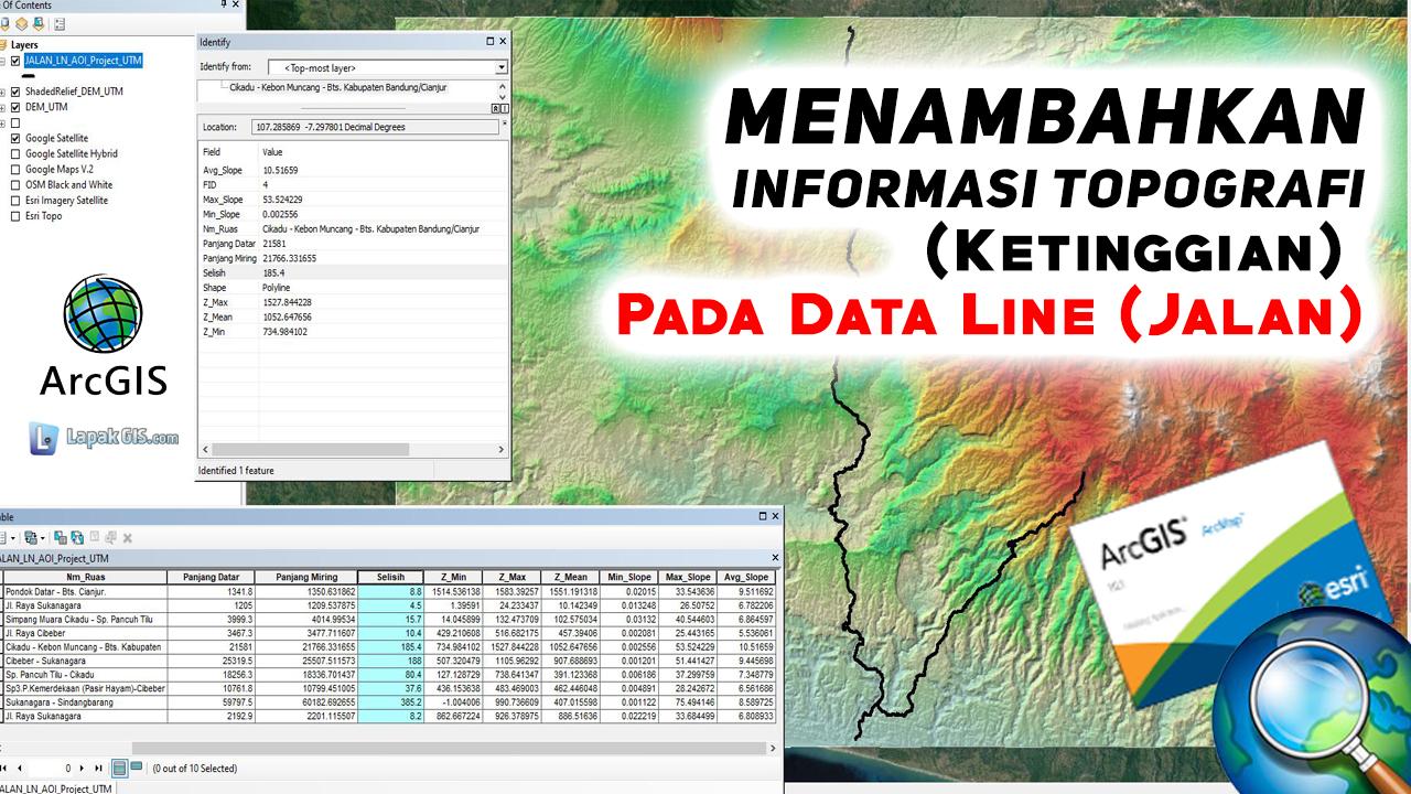 Menambahkan Informasi Topografi (Ketinggian) Pada Data Jalan