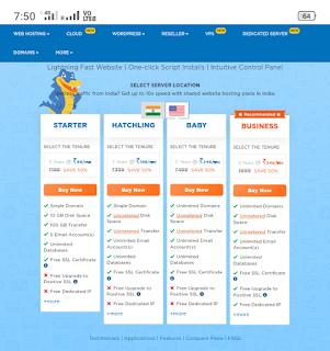 Best web hosting for India