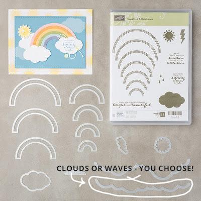 Alternate die use - Sunshine & Rainbows by Stampin' Up! - Stamping Susan Wong