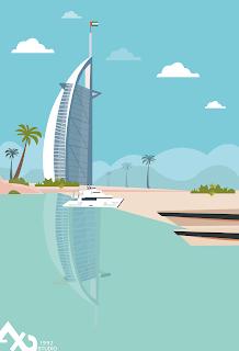 تصميم رسومات غلاف مدينة دبى