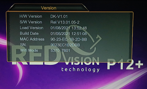 REDVISION P12 PLUS DIGITAL SATELLITE HD RECEIVER NEW SOFTWARE
