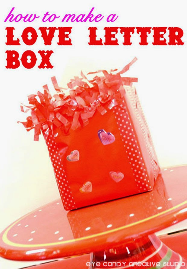 how to make a love letter box for valentines day, valentine box