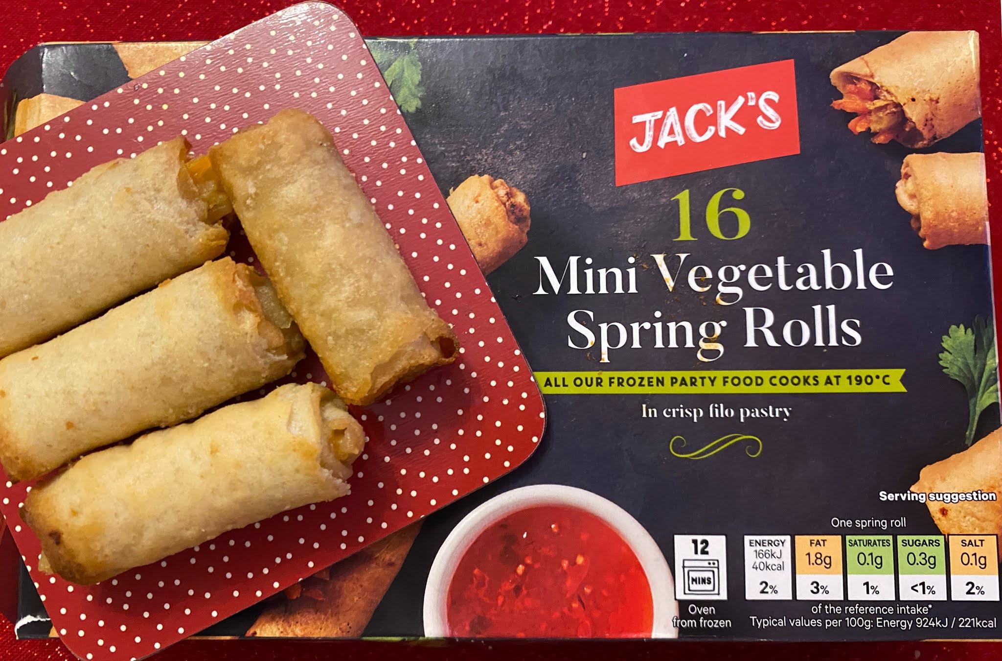 Jack's Mini vegetable spring rolls