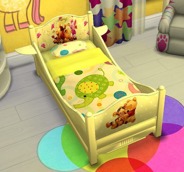 Sims 4 Custom Content Download Classic Toddler Bed