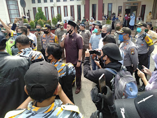 Jaga ketertiban, Kabag Ops Polres Pangkep Pimpin pengamanan Aksi LSM GMBI