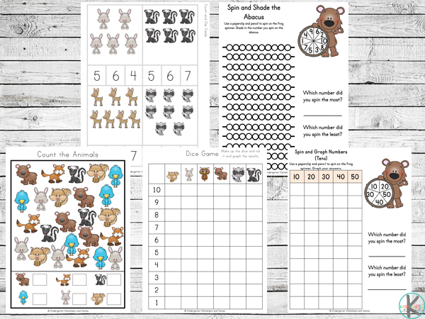 Literacy Forest Animals Worksheets