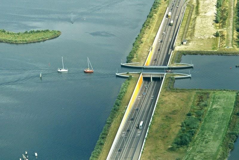 aqueduct veluwemeer in netherlands