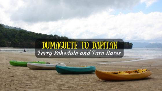 Dumaguete to Dapitan ferry schedule