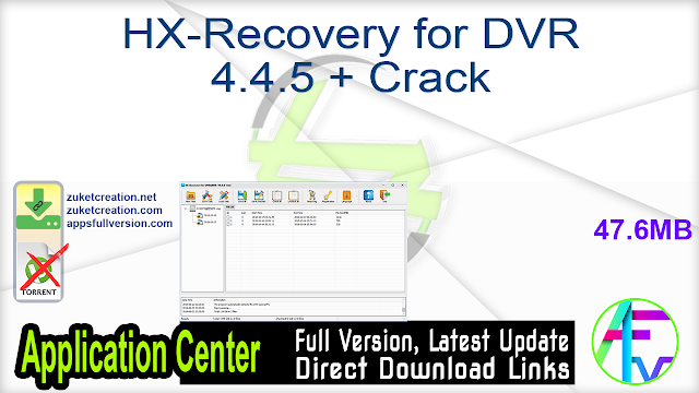 HX-Recovery for DVR 4.4.5 + Crack