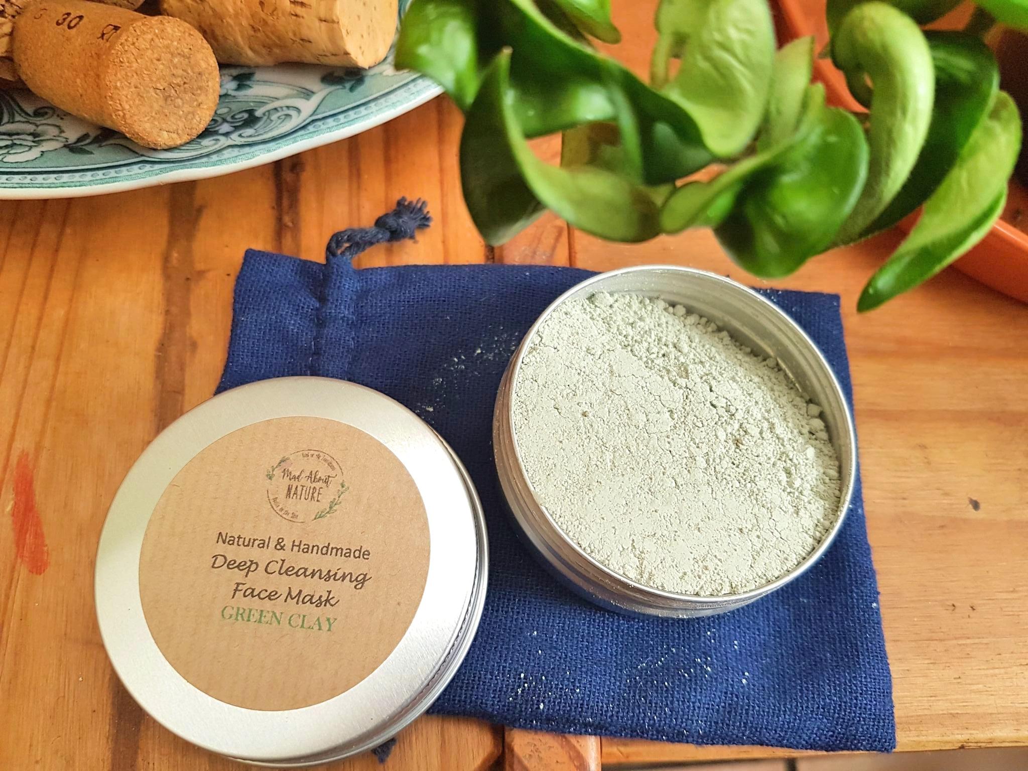 Handmade Green Clay Powder Face Mask