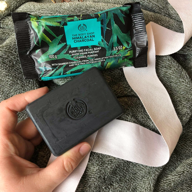 Switching to plastic-free face wash: The Body Shop's Himalayan Charcoal Soap