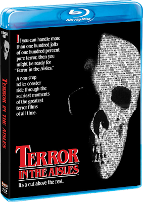 Cover art for Scream Factory's TERROR IN THE AISLES Blu-ray!