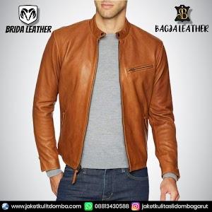 Jual Jaket Kulit Asli Garut Pria Domba Original Brida Leather B84 | WA 08813430588