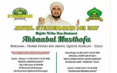 Jadwal Habib Syech Terbaru Bulan Mei 2017 Terlengkap
