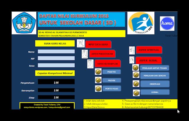 Download Aplikasi Penilaian Kurikulum 2013 dan KTSP Terbaru