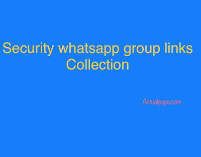 Security whatsapp group links Collection