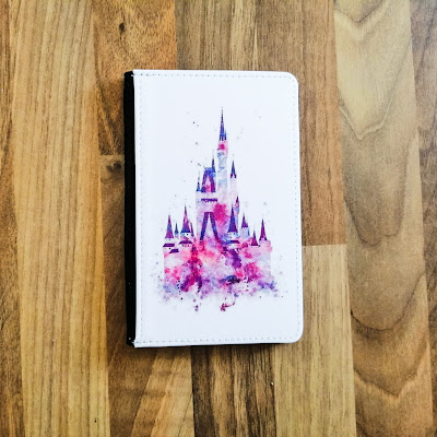 Passport holder with castle print
