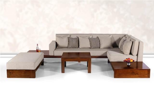 Teak Wood Sofa Set, Teak Wood Sofa, Teak Sofa Set, Living Room Furniture In  Pj