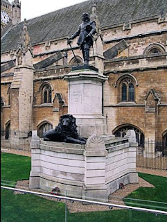 Statue of Oliver Cromwell at West minister