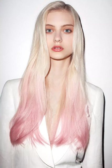 pastel and light gold ombre