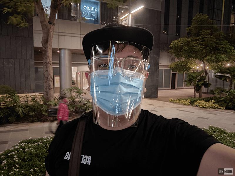 Night mode selfie