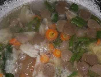 Resep sayur sop bakso