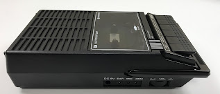 Sanyo cassette recorder, side view