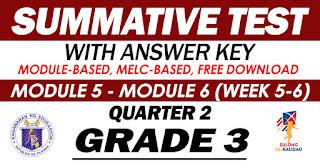 GRADE 3 Summative Test No. 3 (Quarter 2) Module 5-6