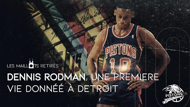 Maillot retiré de Dennis Rodman | PistonsFR, actualité des Detroit Pistons en France
