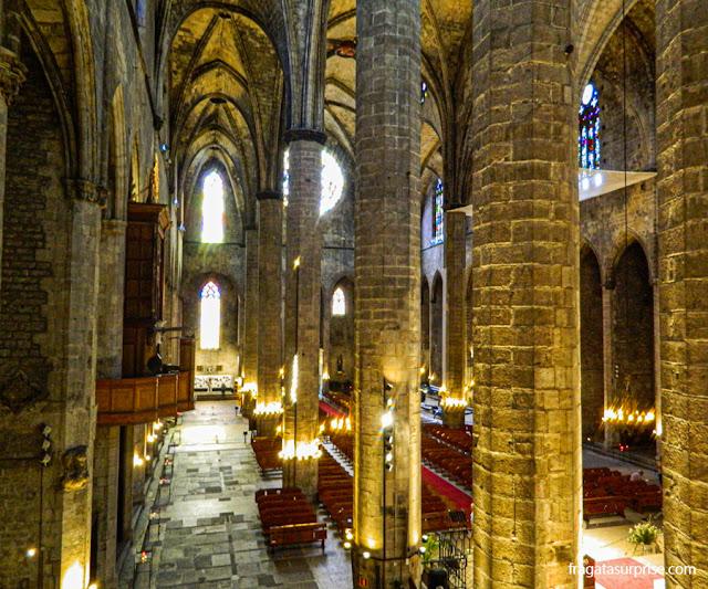 Interior da Igreja de Santa Maria del Mar