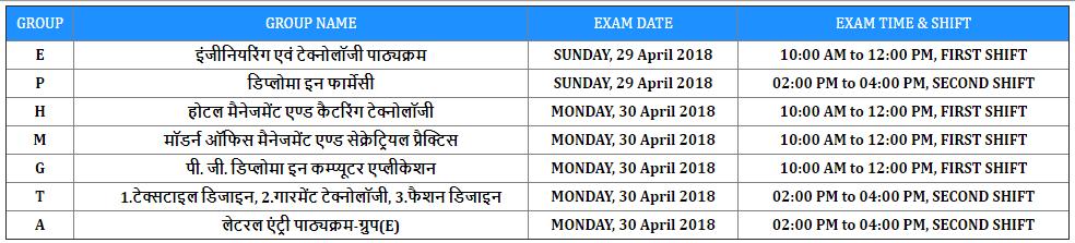 JEEP 2018 Exam Date UBTE
