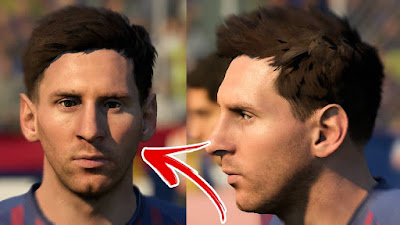 FIFA 19 Faces Lionel Messi by FIFER