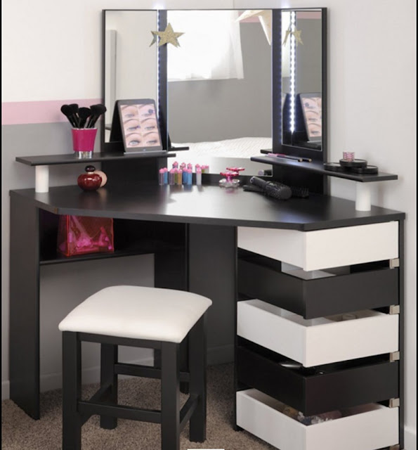 15 elegant corner dressing table design ideas for small