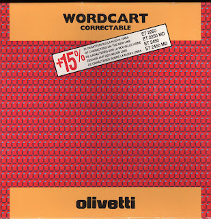 1x OLIVETTI cod: 80670 Original Wordcart Ink ribbon + 15% Size 313C for ET 2200