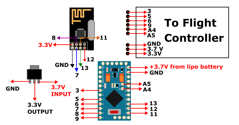 Fscreations Technologies  Circuit Diagram And Part List For Our Arduino Based Drone