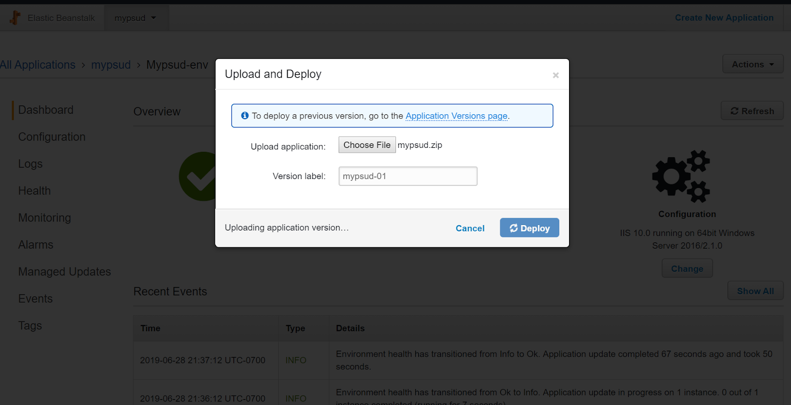 PowerShell Universal Dashboard and AWS Elastic Beanstalk