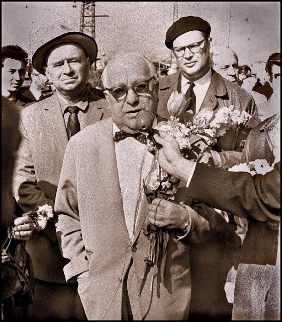 1963 год. Рига. Советский актер, режиссер театра и кино, педагог. Народный артист СССР (1946). Лауреат трех Сталинских (1943, 1947, 1950) и Ленинской премии (1967) Рубен Николаевич Симонов