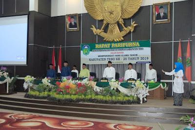 Peringati HUT Tebo ke 20, DPRD Gelar Rapat Paripurna