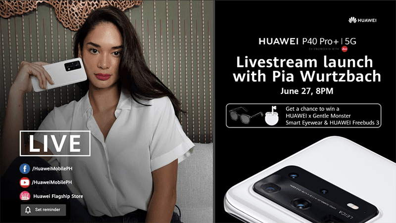 Get exclusive freebies when you pre-order Huawei P40 Pro+ during Huawei Lazlive event