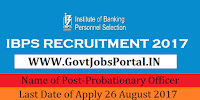 Institute of Banking Personnel Selection Recruitment 2017 – 3247 Probationary Officer