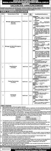 medical-teaching-institution-peshawar-jobs-2020-application-form