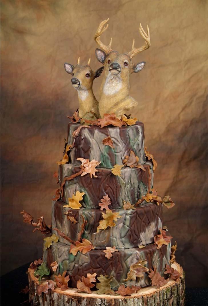 Top 5 Camo Wedding Cakes