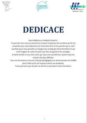 Dédicaces mémoire fin d'étude doc et pdf